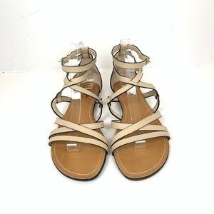 Seychelles Strappy Flat Cream Sandals